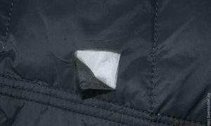 Создание заплаток для заклеивания пуховика: как зашить дырку по шву на болоньевой куртке