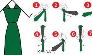 Быстрый и простой способ завязывания галстука пошагово по фото