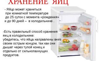 Сколько хранятся яйца в холодильнике: температура хранения