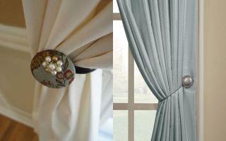 Универсальный способ красиво повесить и подхватить занавеску при помощи держателя штор на магнитах