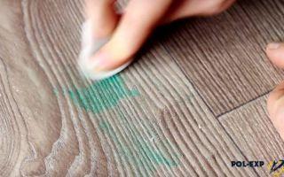 Чем можно отмыть пятно от зелёнки: как удалить пятно и очистить линолеум, средства для выведения пигмента
