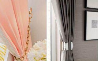 Как подвязать шторы правильно и красиво, используя подхваты; как повесить занавески в зале и кухне