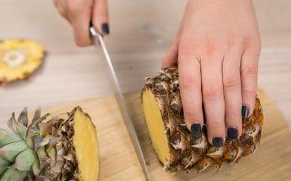 Как почистить ананас в домашних условиях: способы чистки ананаса ножом