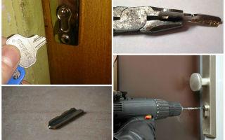Как вытащить сломанный ключ из замка двери и открыть дверь, если сломался механизм замка