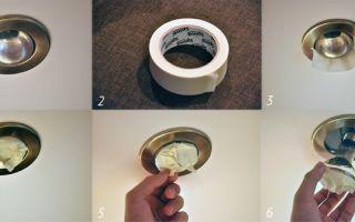 Как выкрутить лампочку из подвесного потолка и заменить на галогеновую или светодиодную