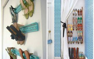 Варианты хранения обуви в домашних условиях: в шкафу, на балконе, оригинальные решения