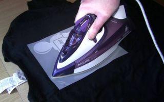 Термонаклейки на одежду в домашних условиях своими руками с использованием утюга