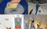 Натяжные потолки: как помыть навесное покрытие в домашних условиях без разводов
