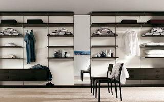 Системы хранения вещей для гардеробной: панельные и каркасные, преимущества, производители и цена