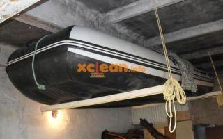 Как хранить лодки пвх в гараже зимой: как подвесить лодку к потолку, правила чистки, ремонта и укладки
