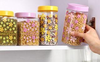 Обзор емкостей для хранения сыпучих продуктов: пластиковых, стеклянных и других, советы по хранению круп