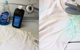 Как отбелить жёлтые пятна под мышками на белом: чем отстирать и удалить пятна от пота